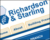 Richardson & Starling Website Re-Design Example