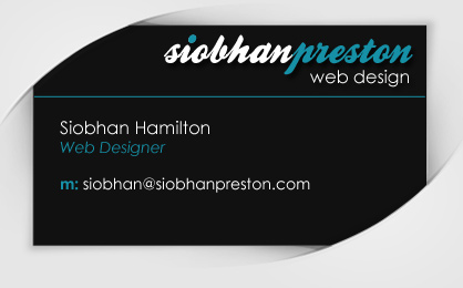 Contact Siobhan Preston Web Design